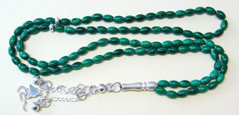 Islamic Prayer Beads Tesbih Subha 99 Malachite