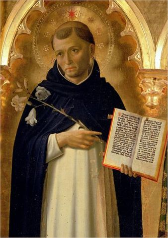 The Perugia Altarpiece, Side Panel Depicting St. Dominic by Fra Angelico (1395–1455)