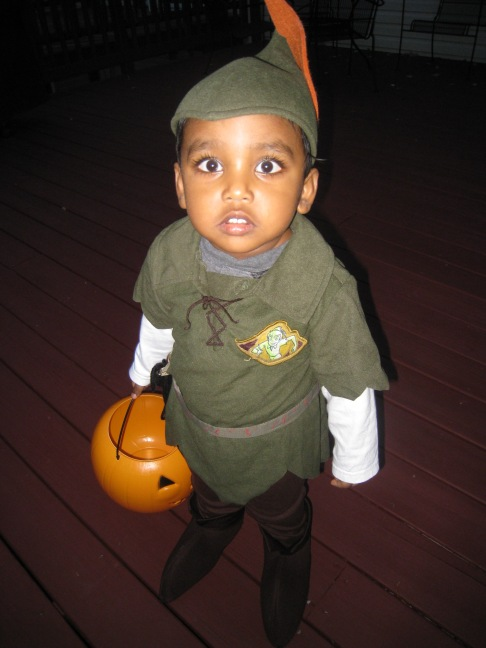 My grandson Rohan dressed as Peter Pan in 2012 (Photo: T.V. Antony Raj)