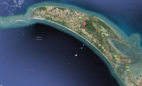 Mannar Island. (Source:- Google Map)