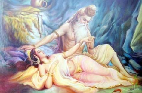 Rishsi Parasara and Satyawati