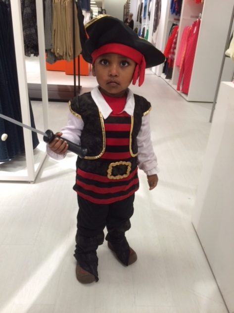 My grandson Rohan, the Little Pirate in 2013 (Photo: T.V. Antony Raj)