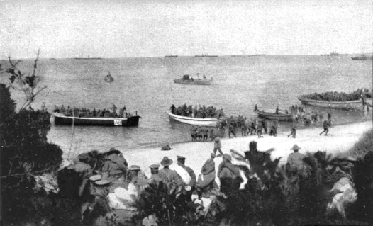Anzac Beach: 4th Battalion landing at 8 am on April 25, 1915