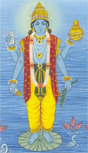 Dhanventari,  physician of the  devas, and god of  Ayurvedic Medicine.