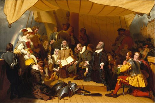Embarkation of the Pilgrims by Robert Walter Weir (1857) in Brooklyn Museum