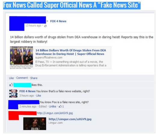 Fox News Called Super Official News A 'Fake News Site'