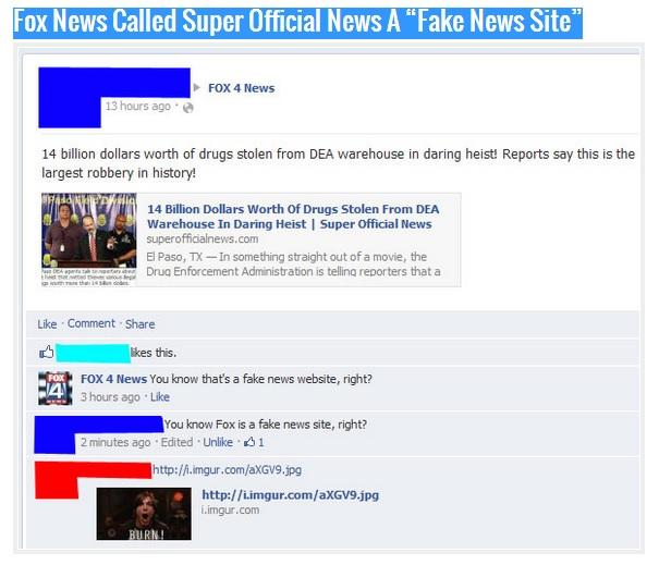 Fox News Called Super Official News A 'Fake News Site'