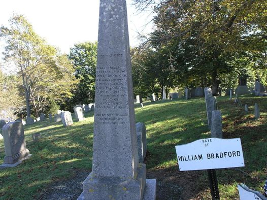 Grave of Governor William Bradford on Burial Hill
