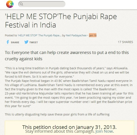 'HELP ME STOP'The Punjabi Rape Festival in India