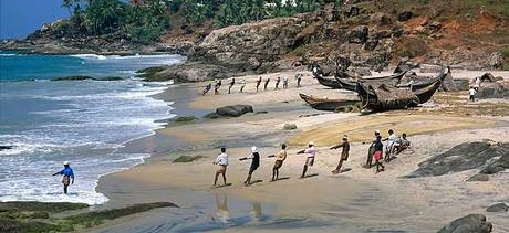 In South India beaches are very much the preserve of Parava fishermen