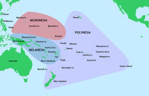 Map of the Pacific Culture Areas (Author : Kahuroa)