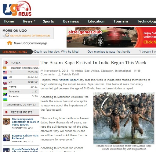 The Assam Rape Festival In India Begins This Week - news.ugo.co.ug