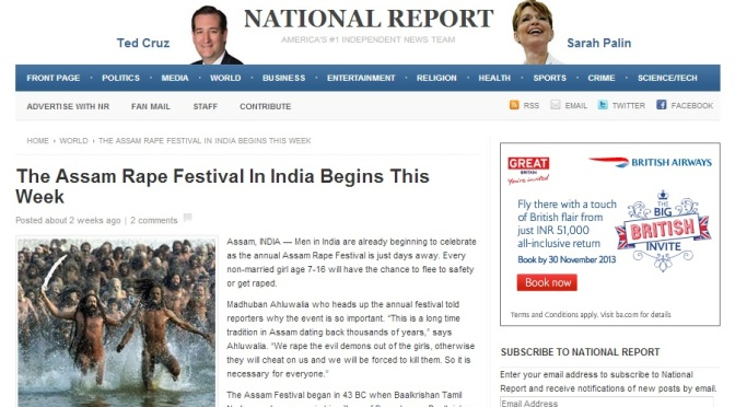 Spoof: Part 2 – Rape Festival In Assam, India