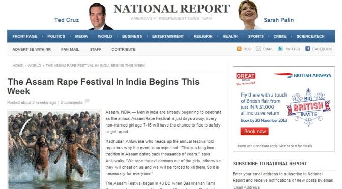Spoof: Part 2 – Rape Festival In Assam, India