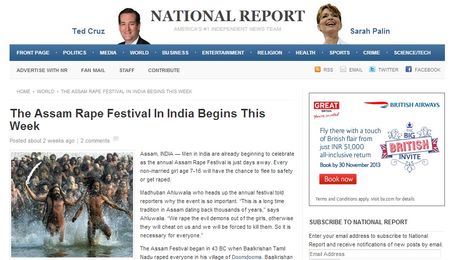 The Assam Rape Festival In India Begins This Week