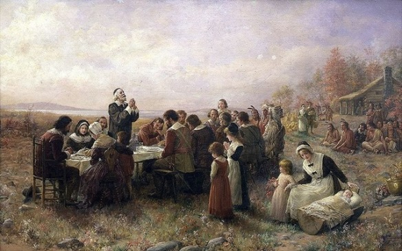 'The First Thanksgiving at Plymouth' (1914) By Jennie A. Brownscombe