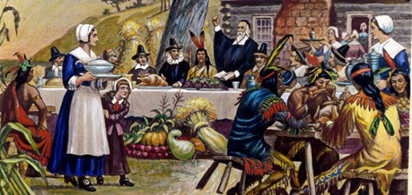 The first Thanksgiving likely included wildfowl, corn, porridge and venison. (Bettmann / Corbis)