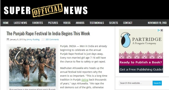The Punjab Rape Festival In India Begins This Week