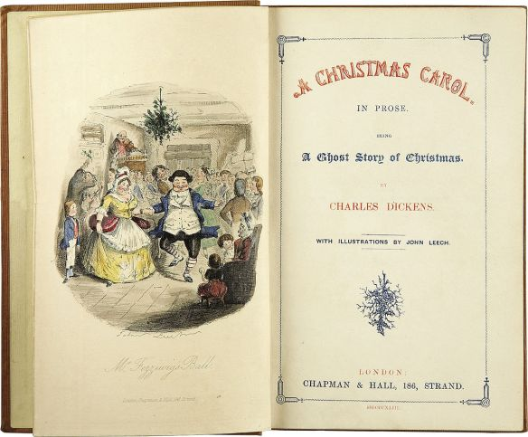 Title page of A Christmas Carol by Charles Dickens (First edition 1843)