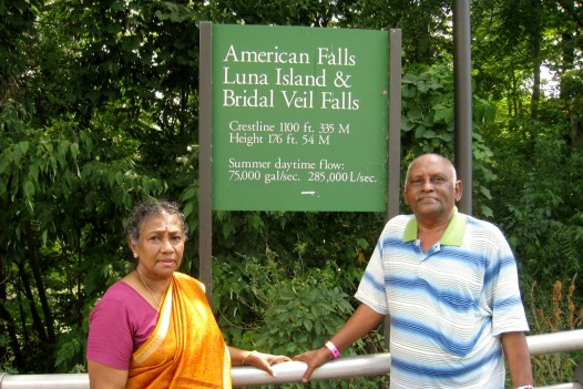 At Luna Island located between American Falls and Bridal Veil Falls. (Photo - T.V. Antony Raj)