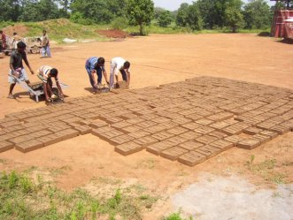 Brick Making - Drying (Source: ecobrick.in)
