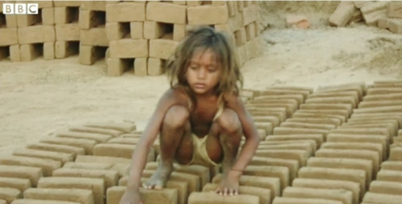 A Child Brick worker in India (Source: BBC)