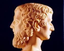 Janus, the Roman god of gates, doors, and beginnings.
