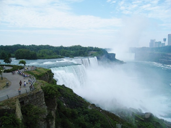 Niagara Falls as seen from the observation deck at Prospect Point. (Photo: T.V. Antony Raj)