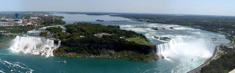 Panoramic View of Niagara Falls (Source: niagarafallslive.com)