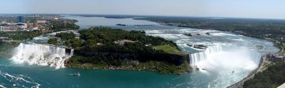Panoramic View of Niagara Falls (Source: niagarafallslive.com)