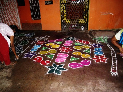 Pongal Kolam (Photo - T.V. Antony Raj)