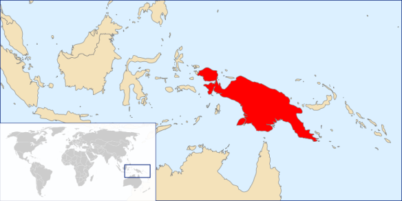 The island of New Guinea.