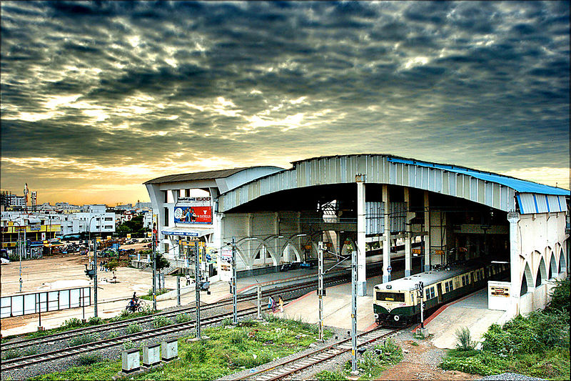 Velachery MRTS Railway station (Photo - Simply CVR)