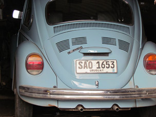 A 1987 VW Beetle - All the president's wealth (Photo - bbc.co.uk)