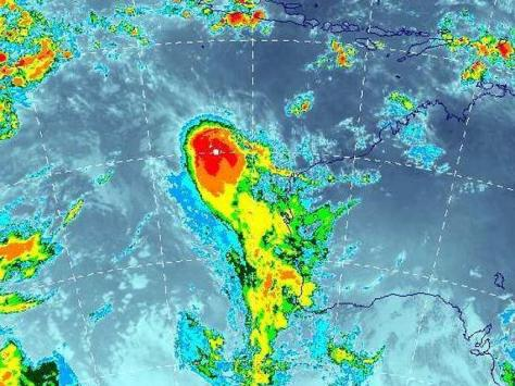 Search suspended ... this satellite image shows severe tropical cyclone Gillian off the Western Australian coast. Credit: Bureau of Meteorology