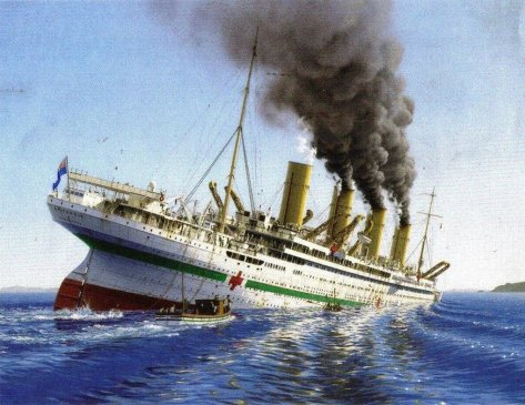 Death of the Britannic.a(Artist - Ken Marschall)