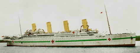 HMHS Britannic - Coloured by Cyril Codus (Source: httptitanic-model.com)