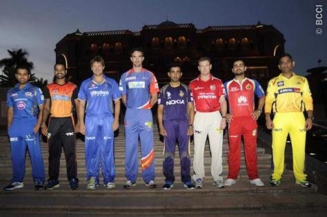 The Captains  of IPL 2014 - Mumbai Indians: Rohit Sharma, Sunrisers Hyderabad: Shikhar Dhawan, Rajasthan Royals: Shane Watson, Delhi Daredevils: Kevin Pietersen, Kolkata Knight Riders: Gautam Gambhir, Kings XI Punjab: George Bailey, Royal Challengers Bangalore: Virat Kohli, Chennai Super Kings: MS Dhoni