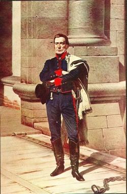 Artigas at the Citadel - a drawing by Juan Manuel Blanes (June 8, 1830 – April 15, 1901)