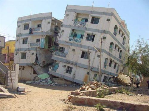 Earthquake in Gujarat on January 26, 2001 (Source: academic.emporia.edu)