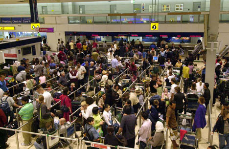 Heathrow airport inside