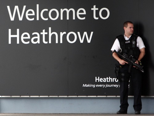 Welcome at Heathrow Airport (Photo: Steve Parsons – WPA Pool/Getty Images)