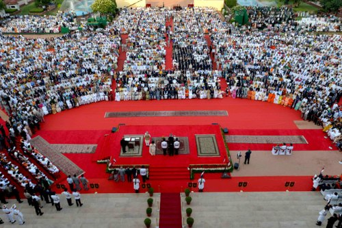 Another view of Narendra Modi's swearing-in ceremony. (HT Photo)