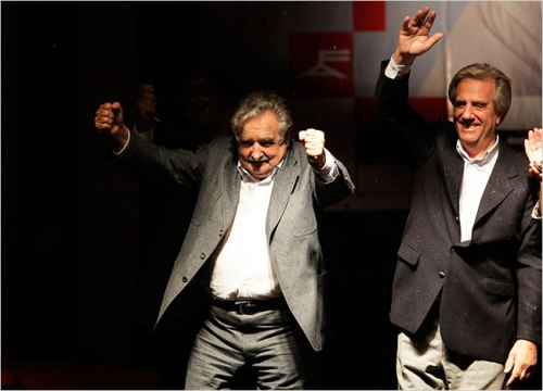 José Mujica and President Tabaré Ramón Vázquez Rosas (2005-2010) (Source: demlab.wordpress.com)