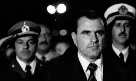 Juan Maria Bordaberry at a public ceremony in Montevideo in 1972. (Photograph:  Panta Astiazaran/AFP)