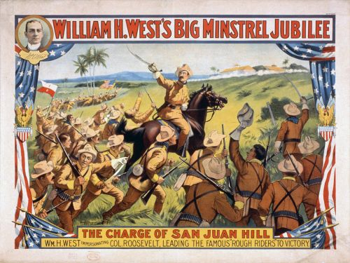 Poster of William H. West's Big Minstrel Jubilee rough riders.