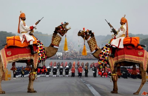 Republic Day Beating Retreat ceremony, New Delhi, India. (Source - indiascanner.com)