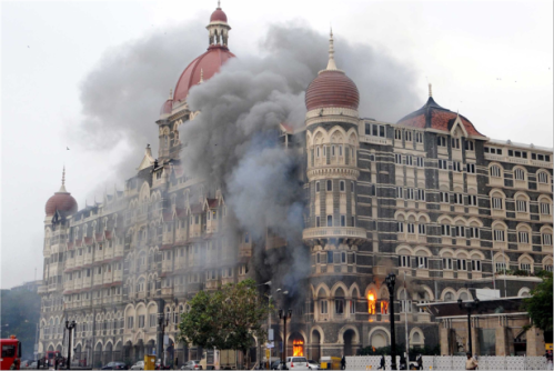 Terror attack at Taj Hotel, Mumbai on  November 26, 2008. (Source: ramanan50.wordpress.com)
