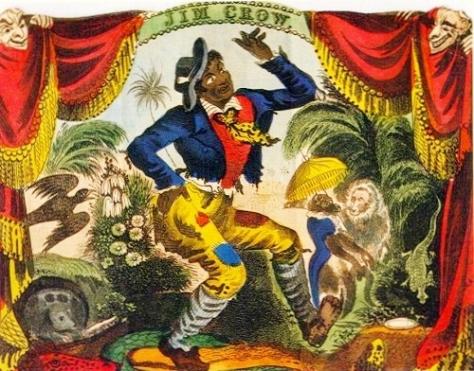 "Thomas Dartmouth ""Daddy"" Rice Playing Jim Crow in Blackface, New York City, 1833."