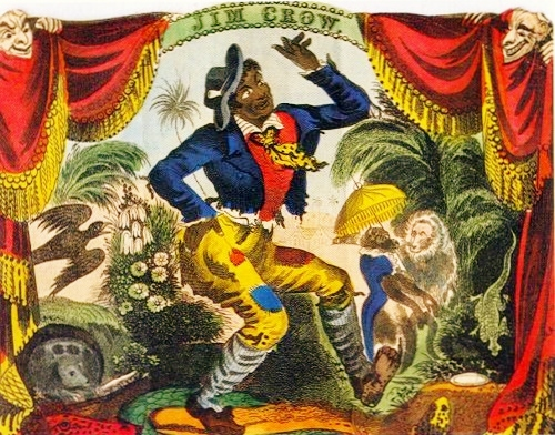 "Thomas Dartmouth ""Daddy"" Rice Playing Jim Crow in Blackface, New York City, 1833."